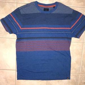 Men's size Large PRANA BREATHE striped tee-shirt